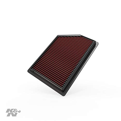 K&N engine air filter, washable and reusable:  2014-2018 Jeep Cherokee L4/V6 33-5009
