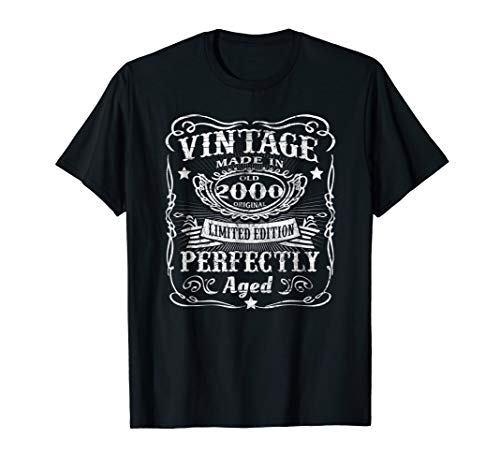 Vintage 2000 Perfectly - 18th Birthday 18 Years Old T-Shirt ()