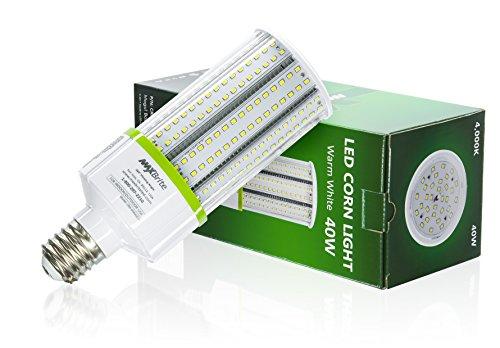 40W LED Corn Light Bulb 4000K Replaces 400W, 4,600 lumens Mogul Base E39, 100-277V AC UL DLC