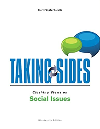 Amazon taking sides clashing views on social issues taking sides clashing views on social issues 19th edition fandeluxe Image collections