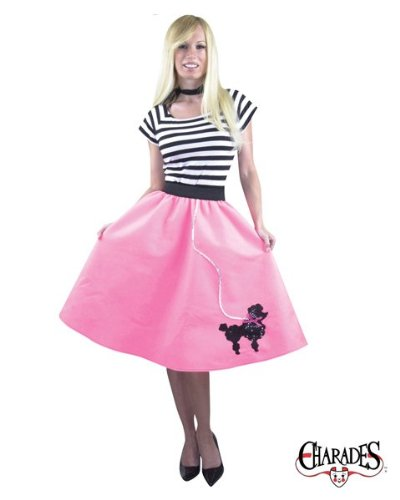 Charades Poodle Skirt Adult Costume (XL 14-18)