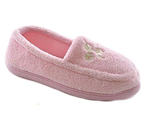 Pantofole Da Donna Slumberz In Cotone Rosa