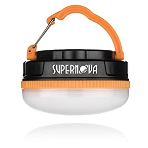 Supernova Halo 180 Extreme Rechargeable LED Camping & Emergency Lantern - Brightest, Most Versatile, Compact Lantern Available - Perfect for Backpacking - Emergencies - Tents - Auto - Home - College