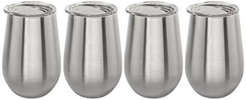 Lancaster Glass Accessory - Stainless Vacuum Insulated Wine Tumbler with Lid - 12oz Wine Glass by Lancaster Steel (4)
