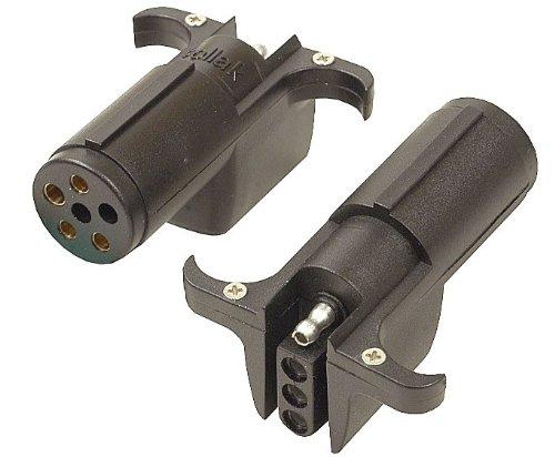 POLLAK 12-742EV 7-Way Pin Plug to 4-Way Flat Adapter