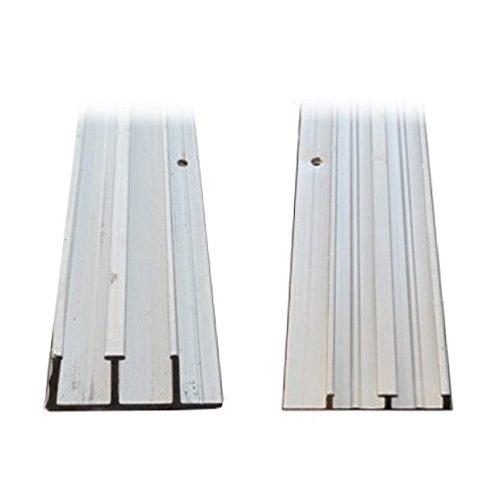 1/4'' X 4' Aluminum Sliding Door Track