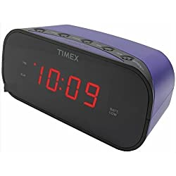 TIMEX T121U Alarm Clock with .7 Red Display (Purple)
