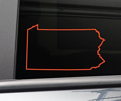 Pennsylvania Vinyl Decal Laptop Car Truck Bumper Window Sticker, 6