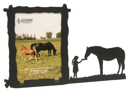 Girl Feeding Horse 3X5 Vertical Picture Frame