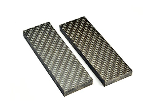 (RECHERE 2PCS Lattice Checkered Grain Micarta Knife Handle Scales Slabs for Sword Knives Making 16x5x0.9cm)