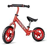 INTEY Balance Bike, 12-Inch Sport Kids Bike, High Aseismic, Ultra-Light, Adjustable, No Pedal Balance Bike for Age 2-5
