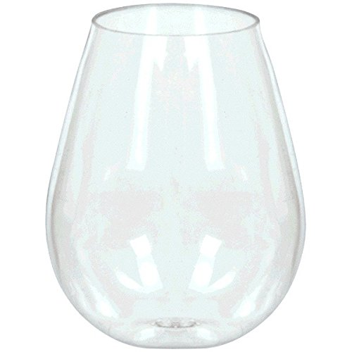 Price comparison product image Reusable Party Friendly Mini Stemless Wine Glasses Tableware,  Clear,  Plastic ,  4oz.,  Pack of 10