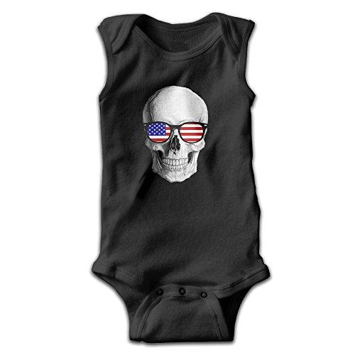 Honeykid Newborn American Flag Sunglasses Skul Sleeveless Onesies Romper - Malaysia Sunglasses Cheap