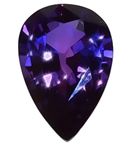 Purple-blue Lab Sapphire Pear Unset Loose 18mm
