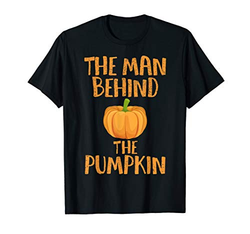 Halloween Pregnancy Man Pumpkin T shirt Funny Party Gift -