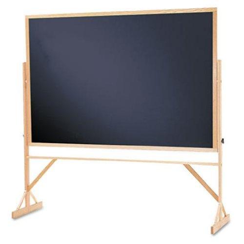 Quartet Reversible Black Melamine Chalkboard, 4 x 6 Feet, Includes Accessory Rail, Hardwood Frame (WTR406-810) (Renewed)