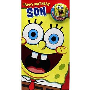 Tarjeta de cumpleaños del hijo de Bob esponja: Amazon.es ...