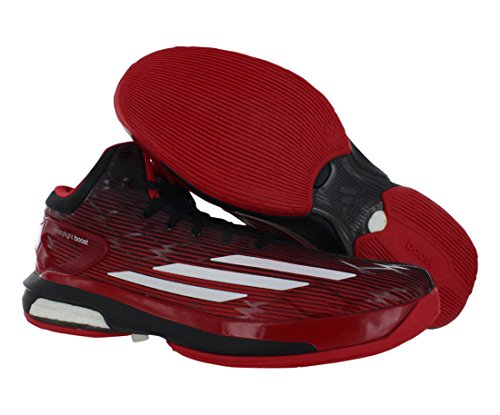 Adidas Menns Crazylight Øke Basketball Sko Scarlet / Hvit / Svart