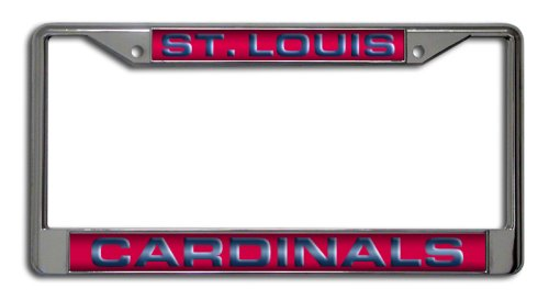 MLB St. Louis Cardinals Laser-Cut Chrome Auto License Plate Frame