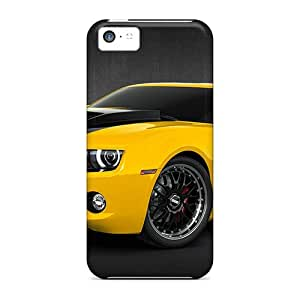LLYH Scratch-free Phone Case For Iphone 5c- Retail Packaging - 2010 Chevy Camaro Yellow
