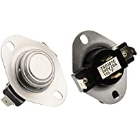AUKO 3387134 Cycling Thermostat Replacement for Whirlpool Kenmore Maytag Dryer Parts Replaces 3387135 3387139 WP3387134VP
