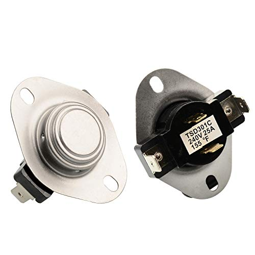 AUKO 3387134 Cycling Thermostat Replacement for Whirlpool Kenmore Maytag Dryer Parts Replaces 3387135 3387139 WP3387134VP (Kenmore Dryer Not Heating And Timer Not Working)