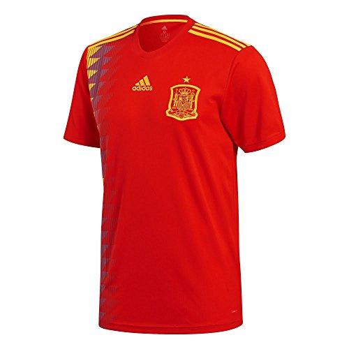 adidas Spain Home Shirt 2017/19-Small Adults