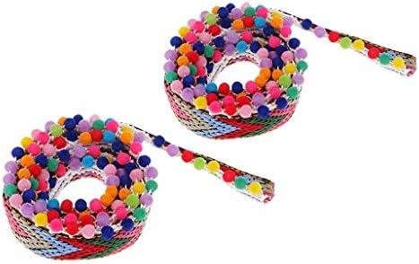 多色 タッセル編み ポンポンボール 民族風 装飾ビーズ フリンジ 手芸用装飾 2サイズ選べ - 28mm