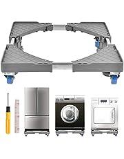 FOCCTS 1 set verstelbare wasmachinebasis, beweegbaar apparaat wiel apparaat trolley met wielen voor droogtrommels, fornuizen, koelkasten, diepvriezers