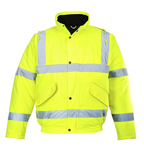 Portwest Workwear Mens Hi-Vis Bomber Jacket Yellow 3 XL