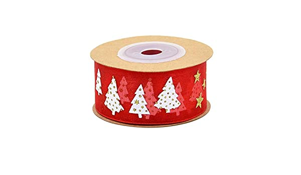 White Christmas Tree Red  Washi Tape Craft Decorative Tape
