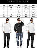 DOSWODE Men Turtleneck Shirts Casual Slim Fit Basic