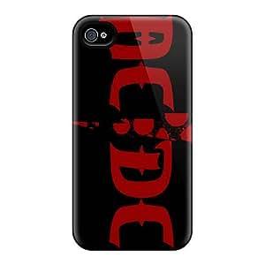 AlissaDubois Iphone 4/4s Anti-Scratch Hard Cell-phone Case Unique Design Fashion Ac Dc Band Series [Rba11113yQnX]