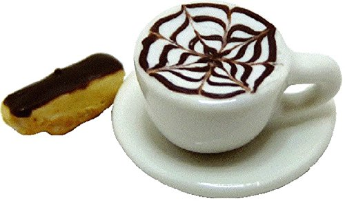 Cappuccino Biscotti (Dollhouse Miniature Cappuccino & Chocolate Dipped Biscotti by Bright deLights)