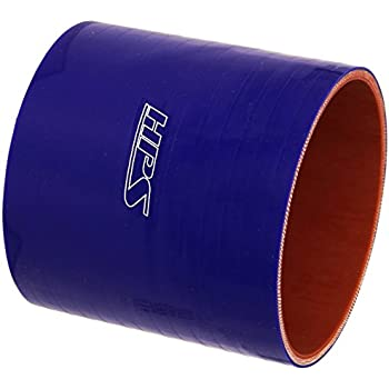 HPS HTSC-425-L4-BLUE Silicone High Temperature 4-ply Reinforced Straight Coupler Hose 4 Length 4-1//4 ID 45 PSI Maximum Pressure Blue