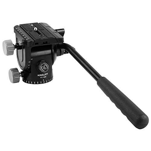 (WWGG Aluminum Alloy Fluid Tractor Hydraulic Head Three-Dimensional Tripod Head 360 Degree Panoramic Photography and Bird Watching)