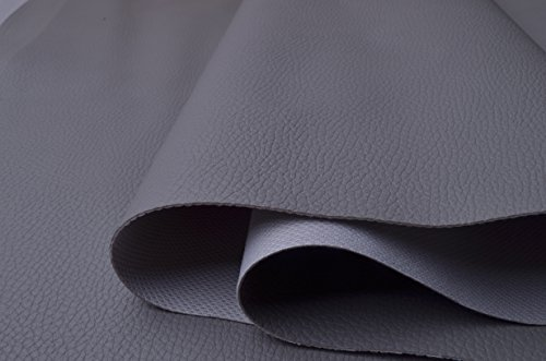 Wento wearproof Gray Sofa Leather Fabric,furniture Leather,car Seat Leather Fabric,Upholster Pleather for Furniture Cover,table Cover,handrail Cover,wide 54'' Sold By Half Yard (Gray)