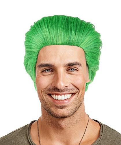 HalloweenPartyOnline Suicide Squad Joker Wig | Green Jared Leto Joker Wig]()