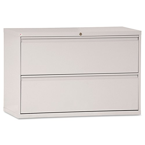 (Alera Two-Drawer Lateral File Cabinet, 42w x 19-1/4d x 29h, Light Gray)