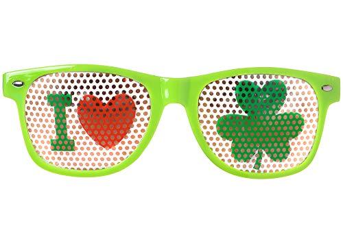 Amscan St. Patrick's Day Green Plastic Shamrock Printed