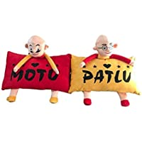PRACHI TOYS Kids Favorite Cartoon Character Motu Patlu Pillow Set (Pack of 2)