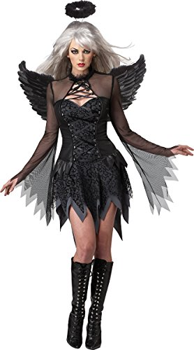 Dark Angel Halloween Costumes For Women (California Costumes Fallen Angel Dress, Black, Large Costume)
