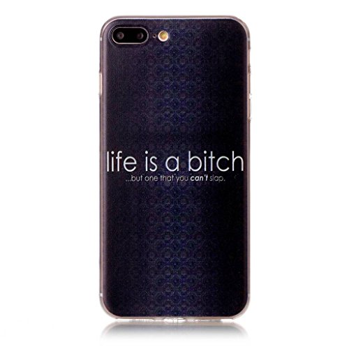 iPhone 7 Plus Coque , Leiai Transparent Mode Ultra-mince Noir Silicone Doux TPU Housse Gel Etui Case Cover pour Apple iPhone 7 Plus 5.5""