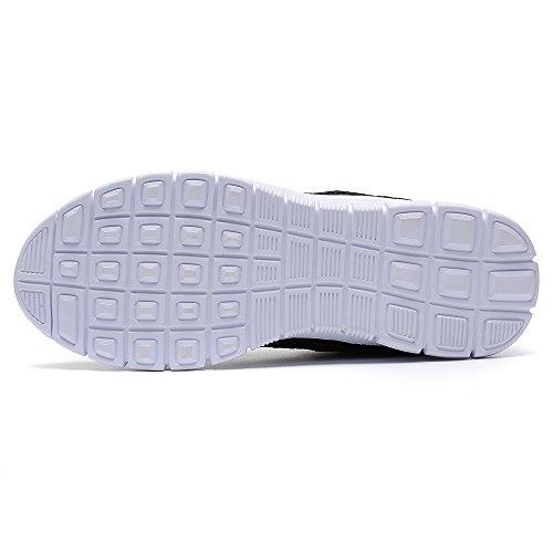 RIGCHO Männer Athletische Laufschuhe Mode Turnschuhe Leichte Atmungsaktive Casual Mesh Weiche Sohle Schuhe Schwarz