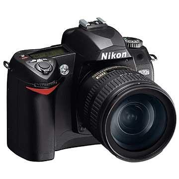 Nikon D70S Digital SLR Camera Kit with 18-70mm and 55-200mm Nikkor Lenses