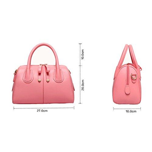 Bolsos De Las Señoras Multicolor Bolsa De Mano Color Del Caramelo De La Almohadilla Bagbackpack Pink