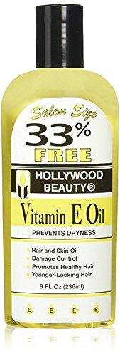 Hollywood Beauty Vitamin E Oil Bonus, 8 Ounce 3 Pack