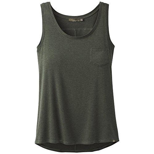prAna Foundation Scoop Neck Tank, Forest Green Heather, Medium - Cotton Exchange Lightweight T-shirt