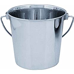 QT Dog Round Stainless Steel Bucket, 2 Quart