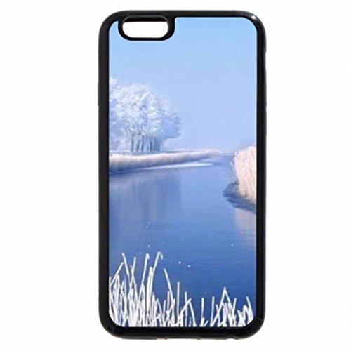 iPhone 6S Case, iPhone 6 Case (Black & White) - Winter Tundra